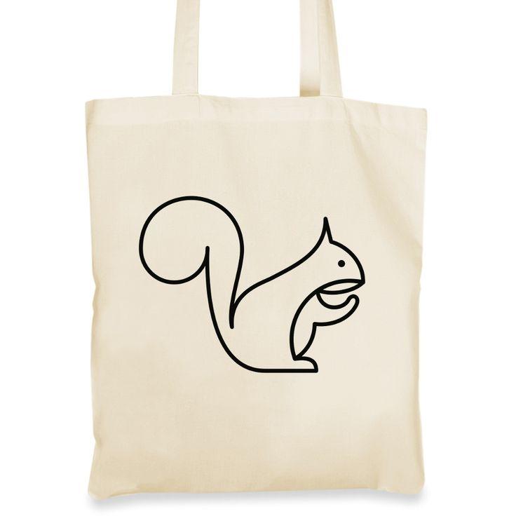 Plátěná taška s mlsnou veverkou