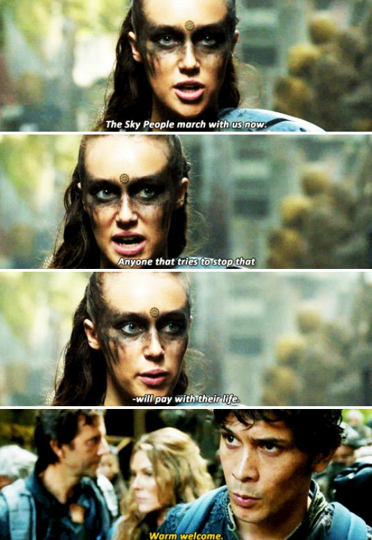 #2x09 Remember Me, Lexa, Bellamy Blake