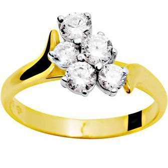 Cubic Zirconia Engagement Style Ring - BEE-22008-CZ