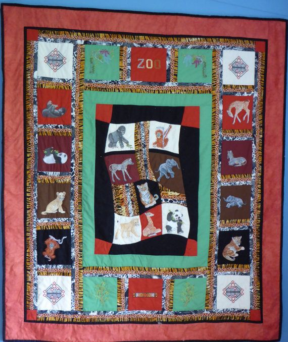 Zoo Babies Quilr by HandMadeQuiltsbyJane on Etsy