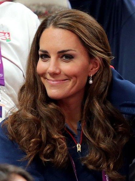 Catherine, Duchess of Cambridge cheers on Great Britain's men's gymnastics team
