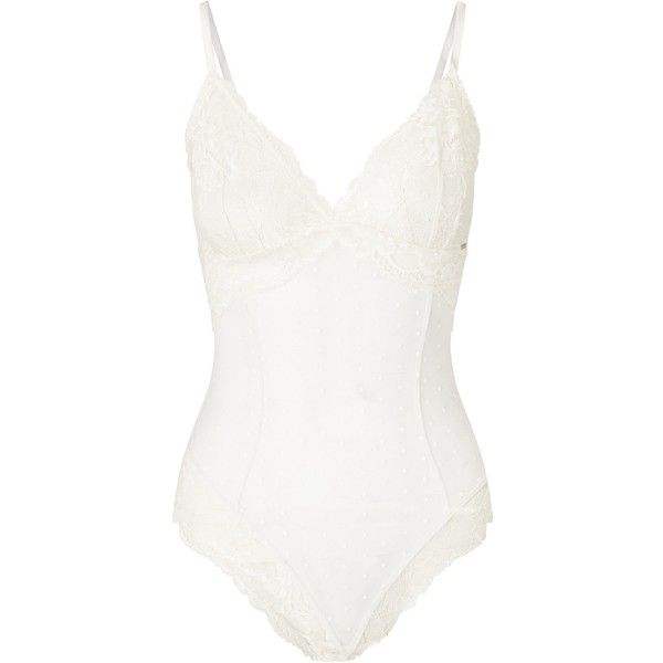 Somerset by Alice Temperley Sylvie Bridal Spot Lace Body (1,040 MXN) ❤ liked on Polyvore featuring intimates and shapewear