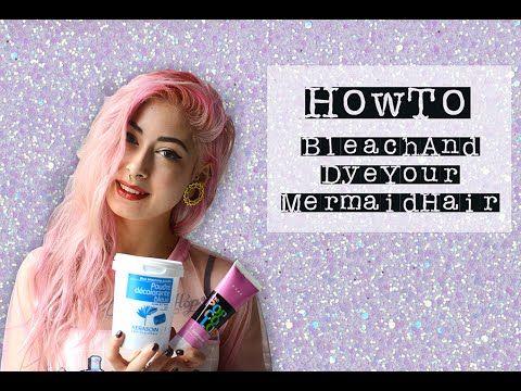 how to dcoloration et coloration pour des cheveux de sirne canniba - Coloration Sans Dcoloration