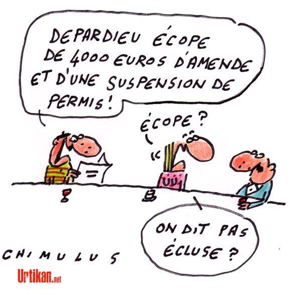 Depardieu à lamende pour conduite en état divresse - Dessin du jour - Urtikan.net