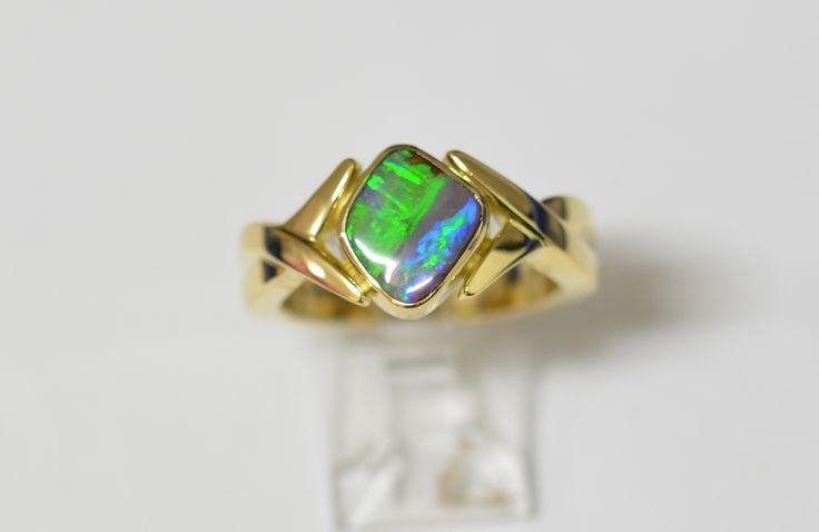 9ct yg opal dress ring