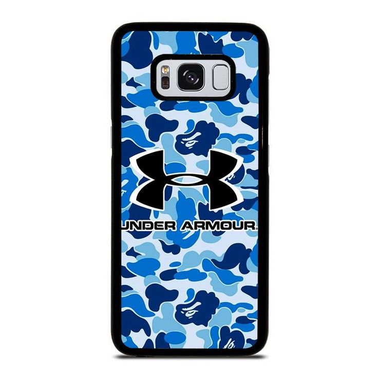 UNDER ARMOUR BLUE CAMO BAPE Samsung Galaxy S4 S5 S6 S7 S8 S9 Edge Plus Note 3 4 5 8 Case Cover