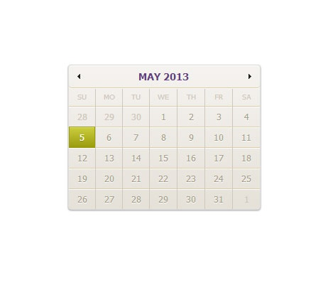 CSS3 skins for jQuery UI datepicker | Web Design | DESIGNIFY Free Download!