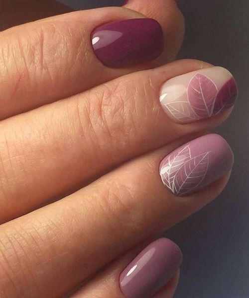 Beautiful Festive Leaf Nail Art Designs #nailart