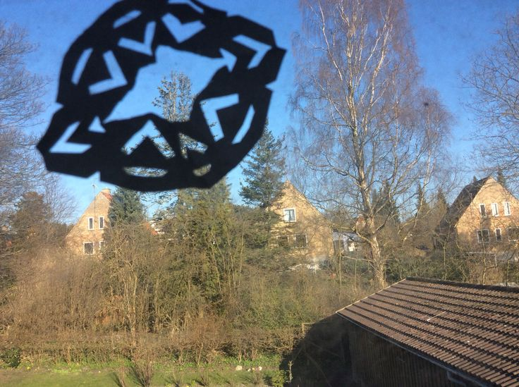 A snowflake on a window #madebyme
