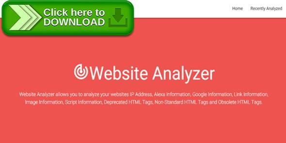 [ThemeForest]Free nulled download Website Analyzer from http://zippyfile.download/f.php?id=57284 Tags: ecommerce, alexa, analyze, analyzer, google, html, html tags, images, ip address, links, material, material design, scripts, website, website analyzer