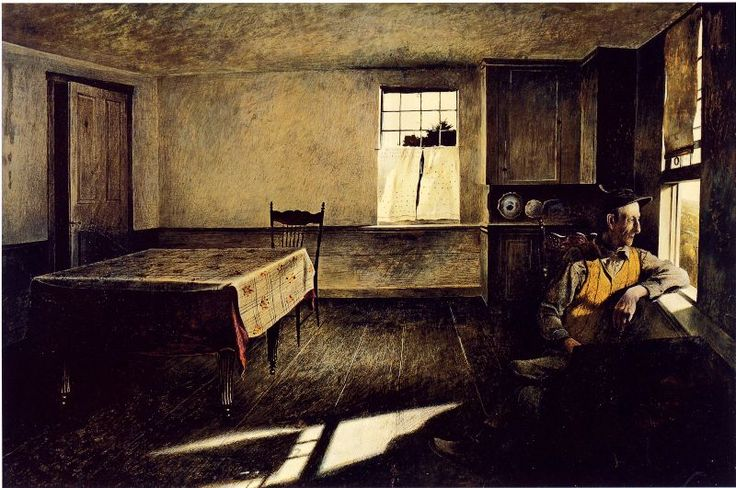Henry Teel 1944- Andrew Wyeth.  I love this painting.  It reminds me of my grandfather.