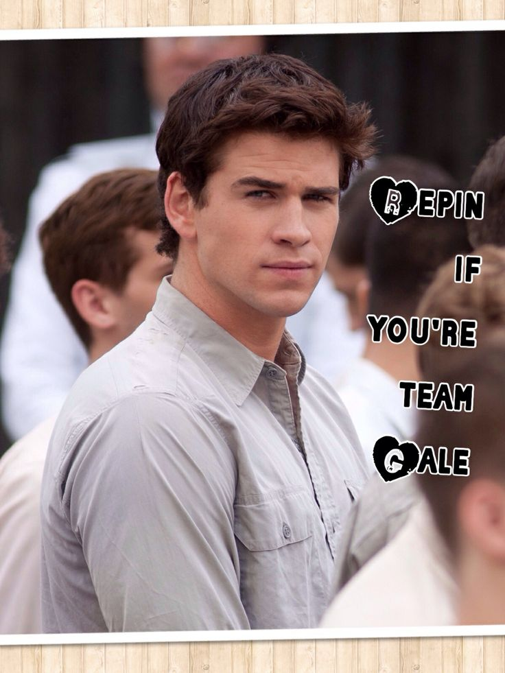 Team Gale!! #Gale #Team_Gale #Hunger_Games >>don't like these but I had to pin!