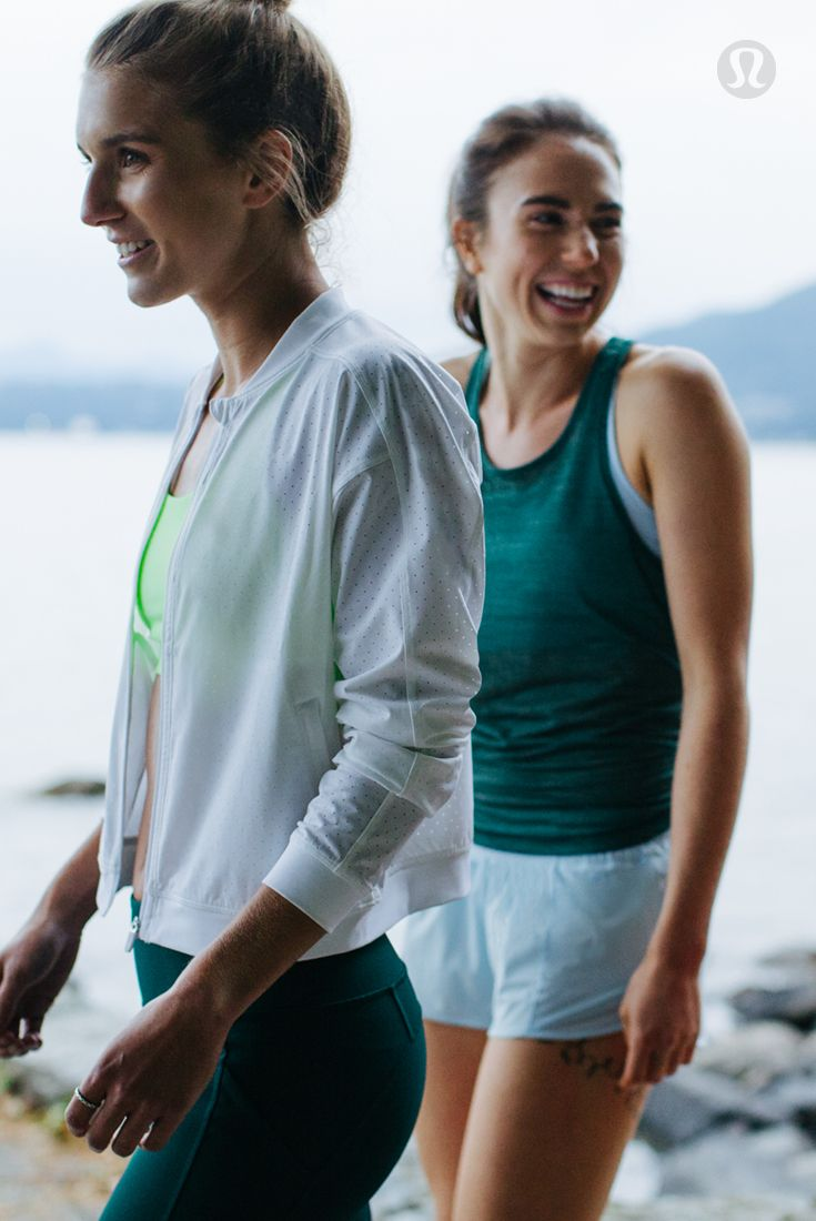 It's a vibrant thing—light up the city streets in bright breathable run gear by lululemon.