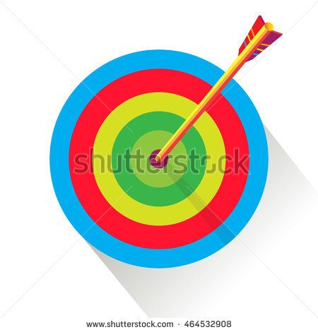 Archery. Target background. Rio. Olympic Archery Sport 2016 Vector illustration. Target Archery and arrow icon, shadow. Target flat. Sport summer games in Brazil. Athletics Games. Archer winner sign.