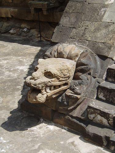 Serpiente emplumada, Teotihuacan, México.