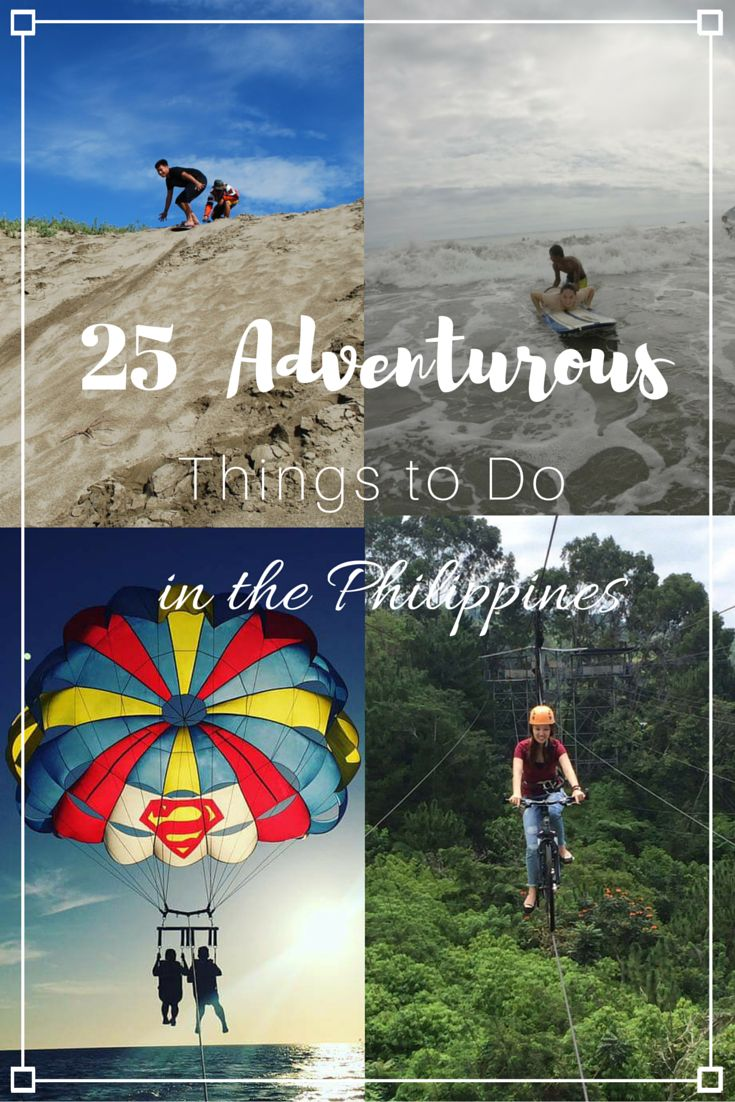 Do you love adventure? Do you crave the adrenaline rush? There are so many adventurous things to do in the Philippines, I've listed 25 on blog. Check it out and see how many things you've done!!!  --> http://johnapgnt.com/25-adventurous-things-to-do-in-the-philippines/