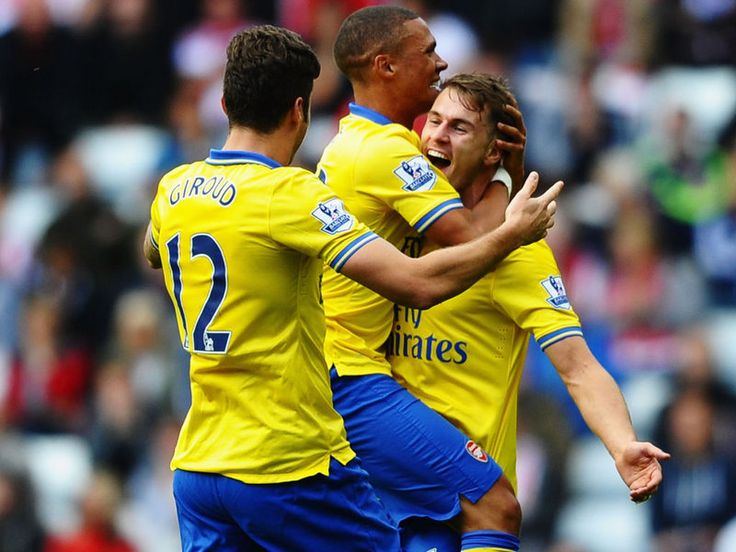 A Craig Gardner penalty had Arsenal on the ropes for a moment but two superb Aaron Ramsey goals put the Gunners back in charge
