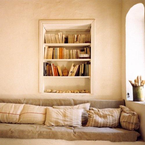 Bibliothèque encastrés, placer des tiroirs de l'autre côté dans l'autre pièces...