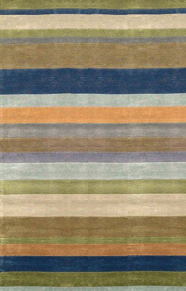 Contemporary designs highlight the hand tufted Stripes pattern that use a blend of synthetic fibers to create a soft, durable rug. I Available now at rugandhome.com #stripes