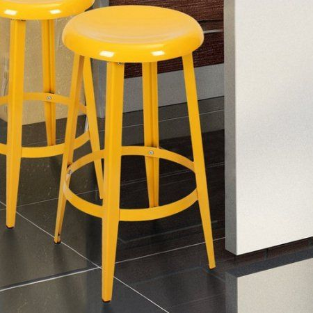 Adeco Trading 26 Bar Stool Yellow Bar Stools Stool Dining