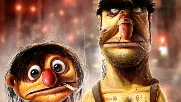 My Brother's Keeper, Sesame Street's Bert & Ernie as Dirty Thugs by Dan LuVisi