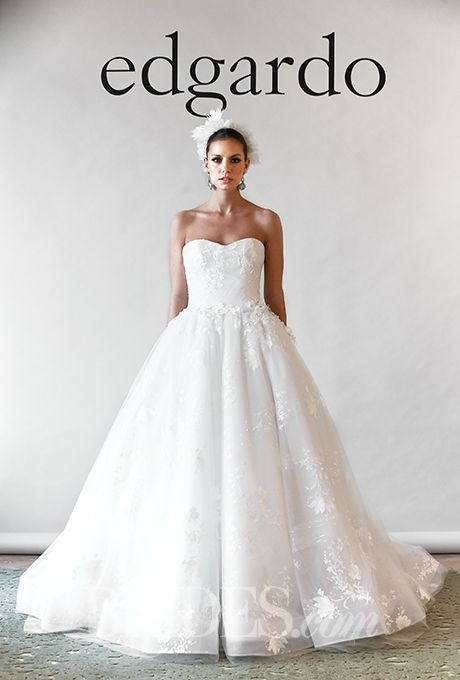 Brides: Edgardo Bonilla Wedding Dresses - Fall 2015 - Bridal Runway Shows - Brides.com