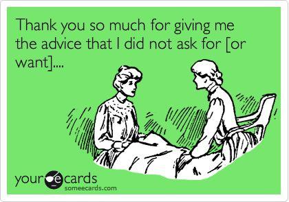 Unwanted Parenting Advice #ThanksButNoThanks