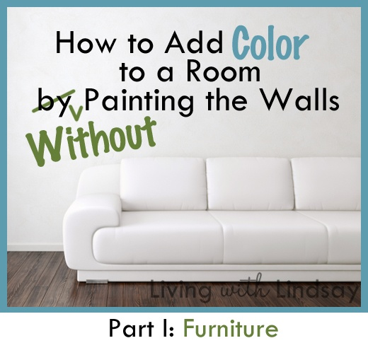 "Are you a ""Renter"" who is not allowed to paint the walls of your apartment? Let me guess...Every room is painted white, off white, gray....etc... Well, here is an EXCELLENT BLOG that teaches you ""How to Add Color to a Room WITHOUT painting the walls!""  Excellent advice! Check it out!"