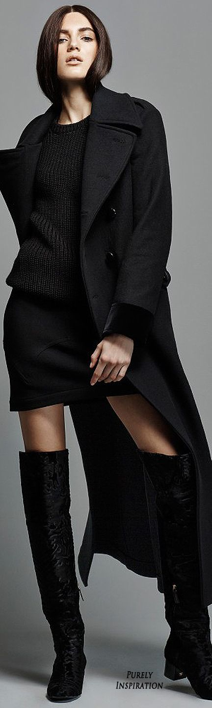 Love The Black Over Coat, Short But Not To Short Black Skirt, What's Not To Like About Those Boots