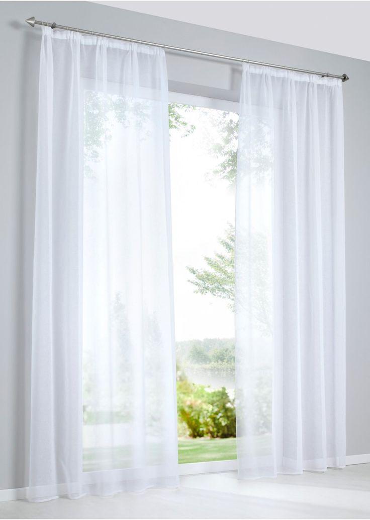 """Se nu:Gardinen """"Tessa"""" trollar fram en naturlig look i ditt fönster. Det transparenta polyestertyget har en lätt men grov struktur samt ett diskret utseende. """"Tessa"""" kan perfekt matchas med draperier och hissgardiner. Från klassiskt till modernt – '""""Tessa"""" passar till alla inredningsstilar."""