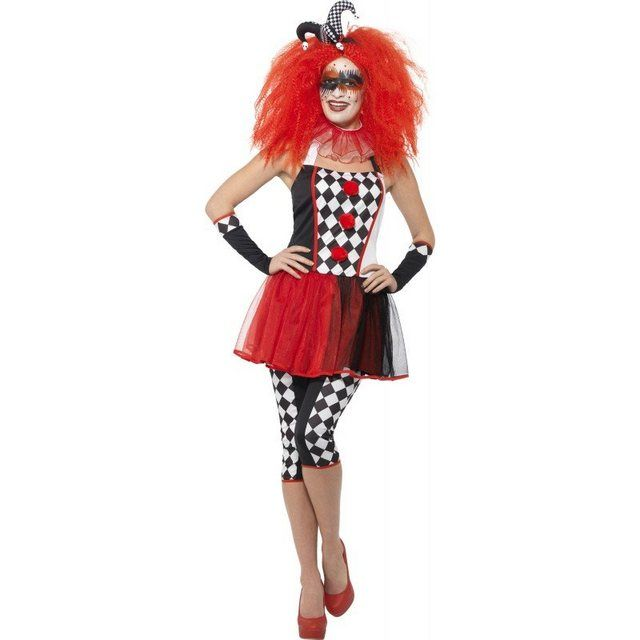 Harlekin Clown Jester Lady Karneval Fasching Damenkostüm HARLEY QUINN Rock