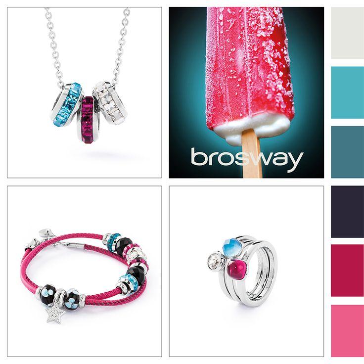 Ispirazione Colore:dolci contrasti #BroswayJewels con #TrèsJolieMini #Bracciale, #TrèsJolie #Collana e #Tring #Anelli