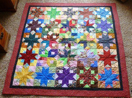 38 best Quilts - Boxy star images on Pinterest | Bonnie hunter ... : boxy stars quilt - Adamdwight.com