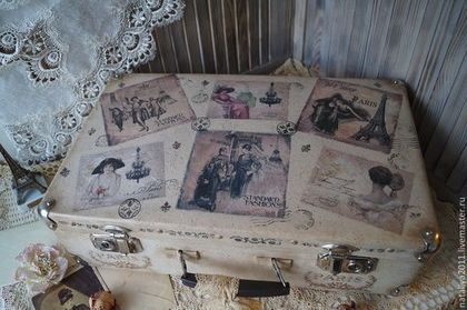 """Корзины, коробы ручной работы. Ярмарка Мастеров - ручная работа """"Париж""""-чемодан. Handmade."""