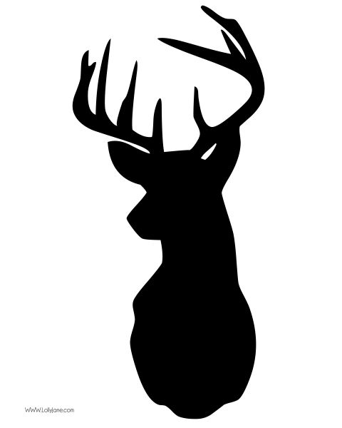 FREE deer head clip art in high res. Great for printables and home decor projects (;