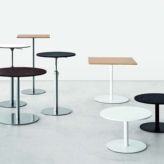 This Brio bar table by LaPalma is an adjustable height bar table features a 23.6 diameter round top avaiable in several materials and finishes. Set the height based on your choice of chairs or stool. So durable and versatile! There is a large family of related Brio tables available from La Palma. If you would like to know more about additional shapes, top diamters, table heights and finishes, please do not hesitate to call us! *Sale Price While Supplies Last. Not Valid for Special Orders.