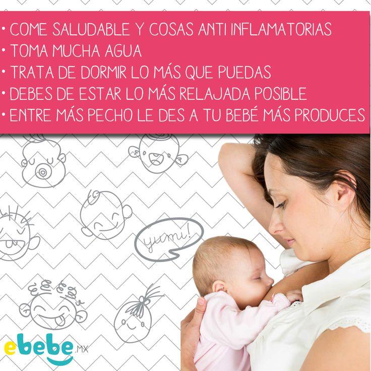 ¿Sabes cuáles son las maneras naturales de incrementar la producción de leche? #bebe #lactancia #mama #saludable #ebebe.mx