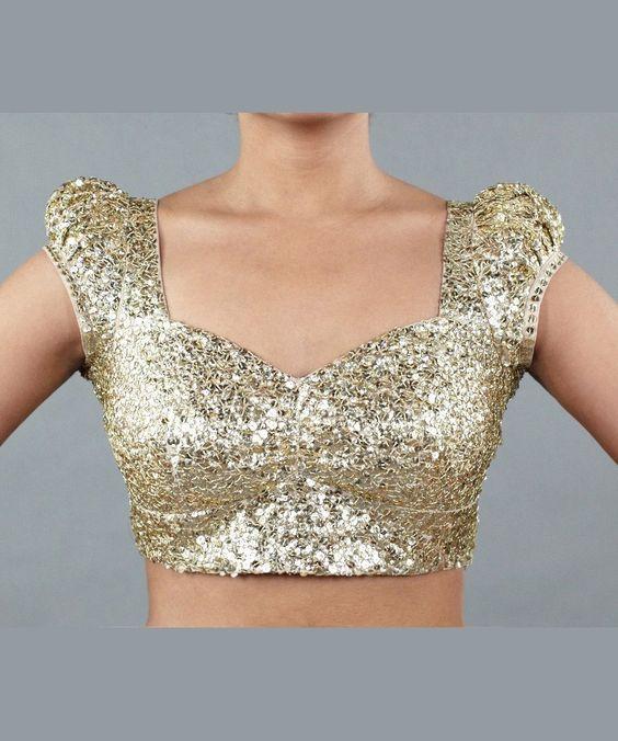 Sequin saree blouse style: