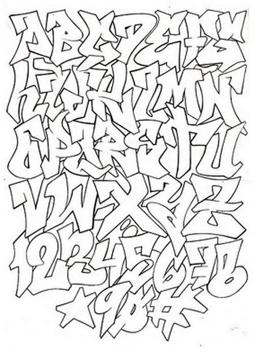 Graffiti Alphabet For Graffiti Project Graffiti Pinterest