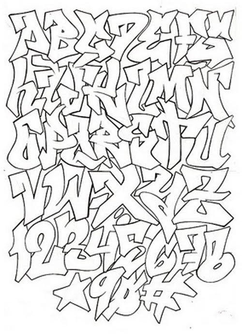 Graffiti Alphabet Art Calligraphy Lettering