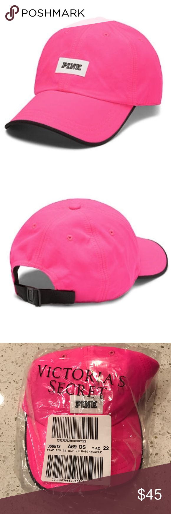 VS VICTORIAS SECRET PINK SPORT CLIP BASEBALL HAT VS VICTORIAS SECRET PINK SPORT CLIP BASEBALL HAT CAP   Product Details  Top it off in the season's must-have hat! Color: Pink on Fleek Sport clip Adjustable One size fits all Imported nylon.                                                          PAIR WITH THE PINK ON FLEEK VS VICTORIAS SECRET PINK SANDALS SLIDES I HAVE AVAILABLE!  PRICE FIRM PINK Victoria's Secret Accessories Hats