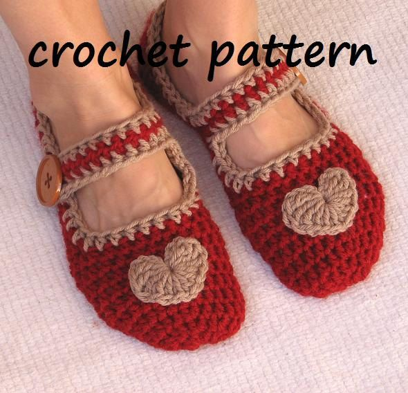 Mary Jane Slippers Crochet Pattern PDF,Easy, Great for