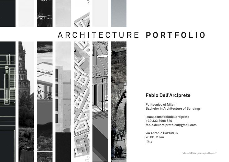 Architecture Portfolio  TU Delft application Portfolio