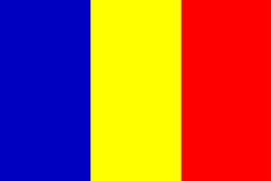 This the Romanian flag, the tricolor featuring the colors blue, yellow and red. Blue represents liberty, yellow represents justice and red represents fraternity.