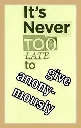 give anonymously