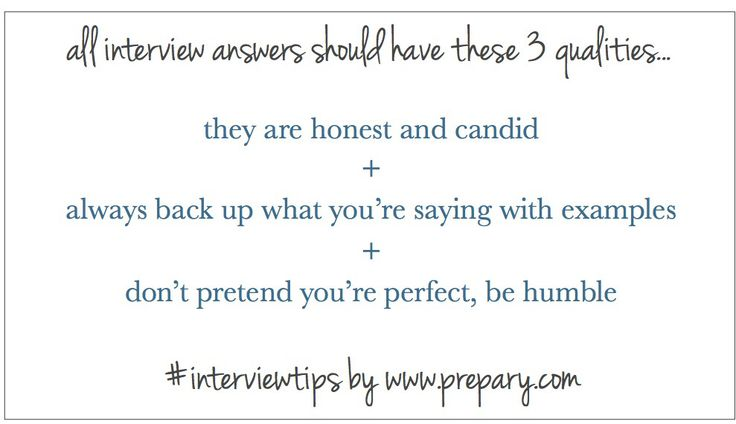 WHAT DO ALL GOOD INTERVIEW ANSWERS HAVE IN COMMON?
