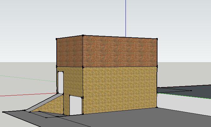 voorbeeld zelf gemaakt met plat dak.
