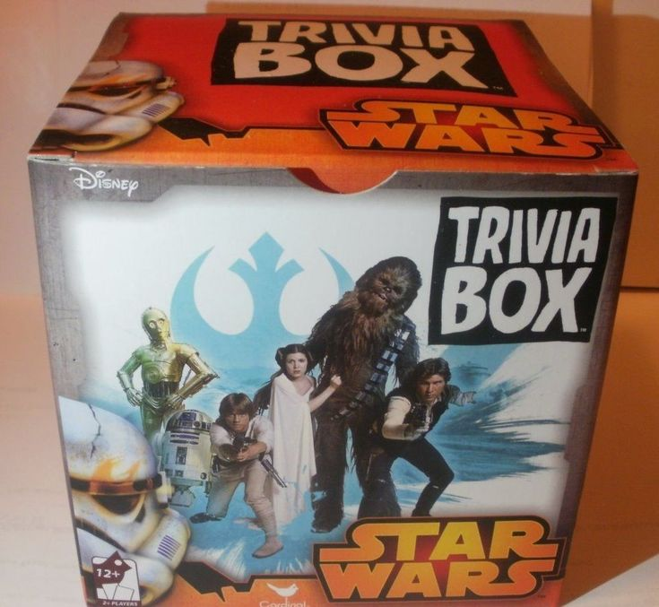 Star Wars Trivia Box Card Game w/ Bonus 20 Character Picture Cards New & Sealed #Disney