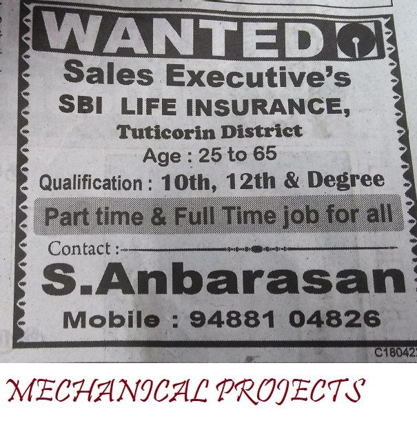 Jobs Sbi Insurance Executives Mechanical Projects Mechanical