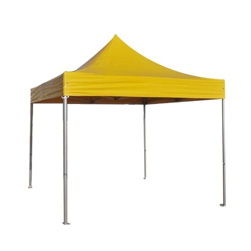 Folding Tent PRO Series 50mm Aluminium Structure in PVC 520g/m2 Tarpaulin 3x3m for Professional Needs or Daily Use yellow